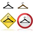 Hanger signs vector image vector image