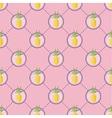 Summer pineapple pattern vector image