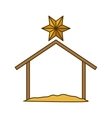 Isolated holy house design vector image