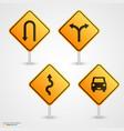 set road sign vector image