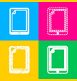 protective sticker on the screen four styles of vector image