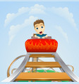 scary ride on rollercoaster vector image