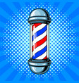 barber sign pop art style vector image