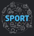 black line flat circle sport vector image