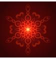 geometric red glow mandala vector image