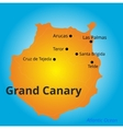 color map of Grand Canary vector image vector image