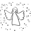 Angel and Stars vector image