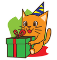 Cat Birthday vector image