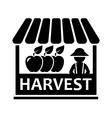fruit harvest on market icon vector image