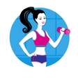 Girl with a dumbbell vector image