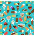 Ice cream and sweets Birthday background vector image