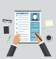 job interview consideration by profiles vector image
