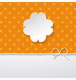 orange background with a floral frame vector image