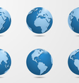 set of six detailed globes vector image
