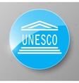 UNESCO Flag Button vector image vector image