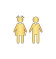 girl and boy computer symbol vector image