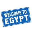 egypt blue square grunge welcome to stamp vector image