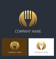 fork gold company logo vector image