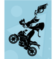 Motorcycle gang vector image
