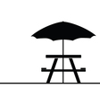 camping and picnic table icon vector image