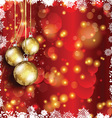 Christmas bauble background vector image vector image