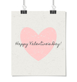 happy valentines day vintage design poster vector image vector image