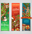 set of colourful Christmas banners vector image