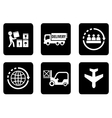 set of six icons for delivery vector image
