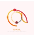 email business symbol or at sign logo vector image vector image