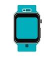blue wristwatch vector image