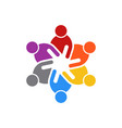 Business people meeting of six people logo vector image