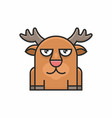 cute deer icon on white background vector image