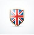 gold england shield vector image