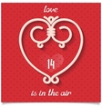 love design card for 14 february vector image