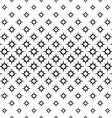 Seamless monochrome octagram star pattern vector image
