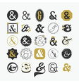 Stylized Ampersand sign and symbol design elements vector image