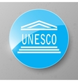 UNESCO Flag Button vector image