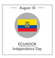 Ecuador Independence Day vector image vector image