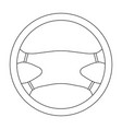 steering wheelcar single icon in outline style vector image