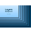 layers blue text vector image vector image