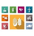 Industrial flat icons set vector image