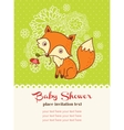 Baby shower invitation card with a fox vector image