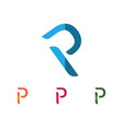 business corporate letter p logo design vector image