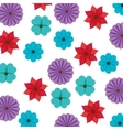 flowers and floral background vector image