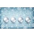 Four christmas balls with ribons vector image