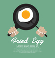 Fried Egg In A Pan EPS10 vector image