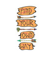 indian arrows with text vector image
