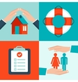 insurance concepts in flat style vector image