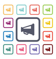 loudspeaker flat icons set vector image