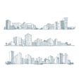 Sketches of city silhouettes vector image